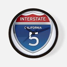Interstate 5 - California Wall Clock