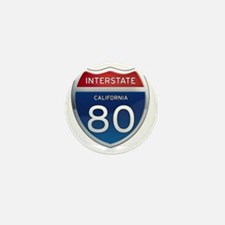 Interstate 80 - California Mini Button