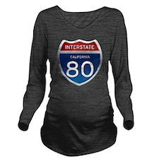 Interstate 80 - Cali Long Sleeve Maternity T-Shirt
