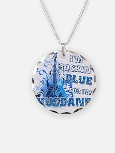 Im Rockin Blue for my Husban Necklace Circle Charm