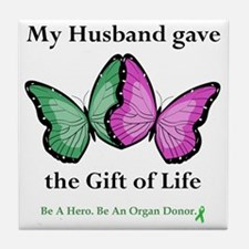 HusbandGaveButterfly Tile Coaster