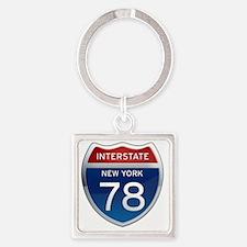 Interstate 78 - New York Square Keychain
