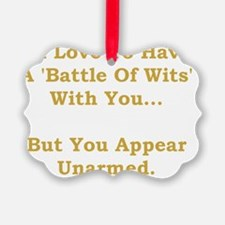 Battle Of Wits Gold Ornament
