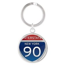 Interstate 90 - New York Round Keychain