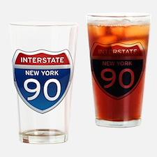 Interstate 90 - New York Drinking Glass