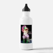 funny birthday dog Water Bottle