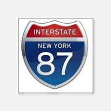 "Interstate 87 - New York Square Sticker 3"" x 3"""