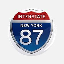 """Interstate 87 - New York 3.5"""" Button"""