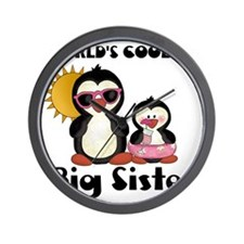 big sister penguin Wall Clock