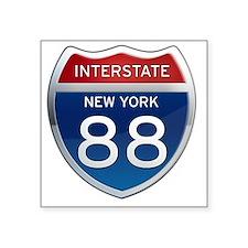"Interstate 88 - New York Square Sticker 3"" x 3"""