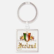 ireland Square Keychain