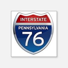 "Interstate 76 - Pennsylvani Square Sticker 3"" x 3"""