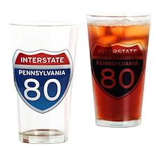 Interstate 80 - Pennsylvania Drinking Glass