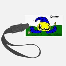 Qwee! The Psychedelic Lime Grove Luggage Tag
