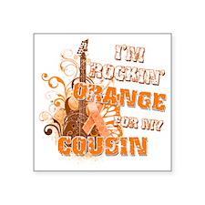 "Im Rockin Orange for my Cou Square Sticker 3"" x 3"""
