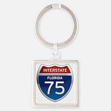 Interstate 75 - Florida Square Keychain