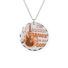 Im Rockin Orange for my Son Necklace Circle Charm