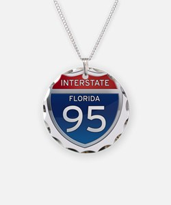 Interstate 95 - Florida Necklace Circle Charm