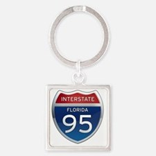 Interstate 95 - Florida Square Keychain