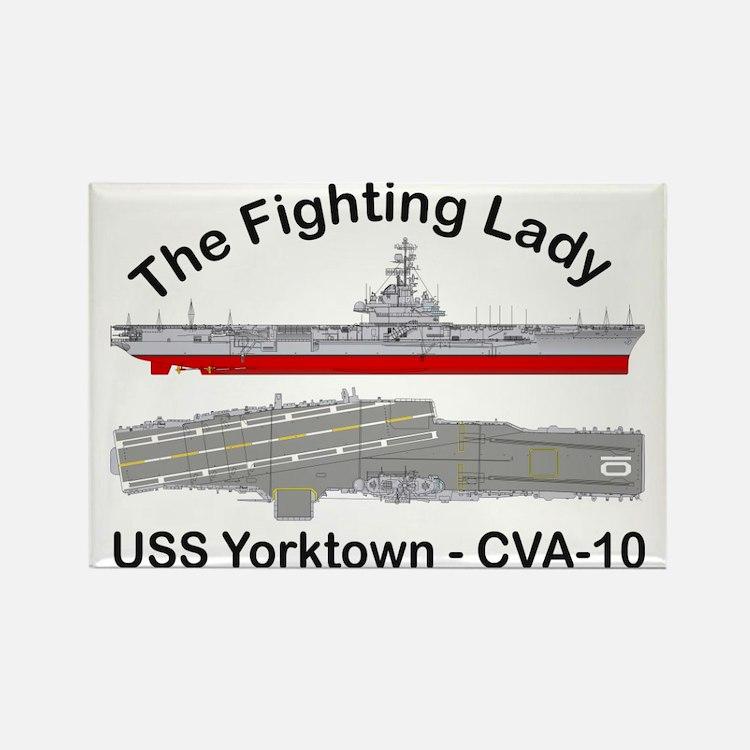 Essex-Yorktown-T-Shirt_front Rectangle Magnet