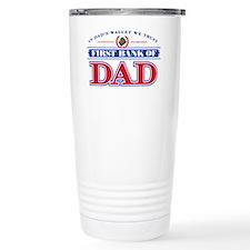 First Bank Of Dad Travel Mug