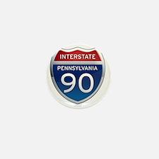 Interstate 90 - Pennsylvania Mini Button