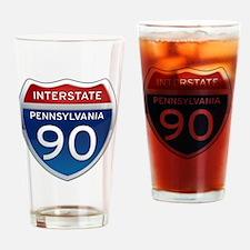 Interstate 90 - Pennsylvania Drinking Glass