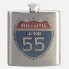 Interstate 55 - Illinois Flask