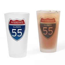 Interstate 55 - Illinois Drinking Glass