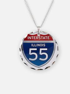 Interstate 55 - Illinois Necklace