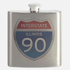 Interstate 90 - Illinois Flask