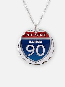 Interstate 90 - Illinois Necklace