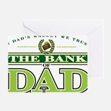 The Bank of Dad Greeting Card