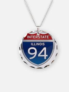 Interstate 94 - Illinois Necklace