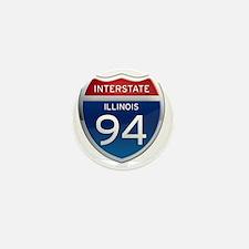 Interstate 94 - Illinois Mini Button