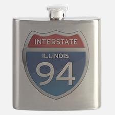Interstate 94 - Illinois Flask