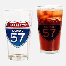 Interstate 57 - Illinois Drinking Glass