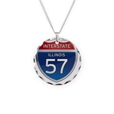 Interstate 57 - Illinois Necklace