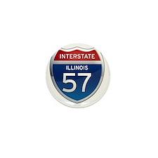 Interstate 57 - Illinois Mini Button