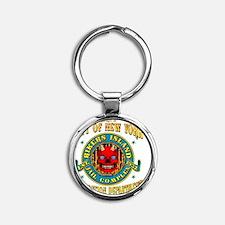 RIKERS_ISLAND_5x4_pocket Round Keychain