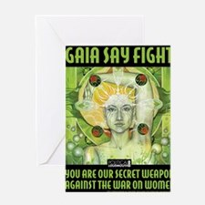 WAR WOMEN GAIA 8.5x11 Greeting Card