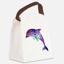 dolphin Canvas Lunch Bag