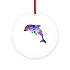 dolphin Round Ornament
