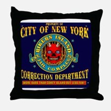 RIKERS_ISLAND_9x7.5_mpad Throw Pillow