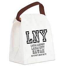 AIRPORT CODES - LNY - LANAI CITY, Canvas Lunch Bag