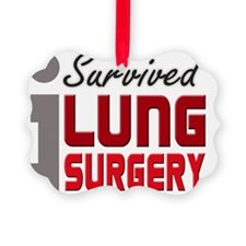 isurvived-lungsurgery Picture Ornament