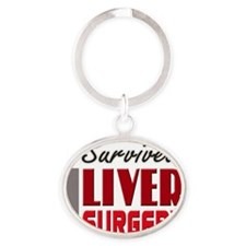isurvived-liversurgery Oval Keychain