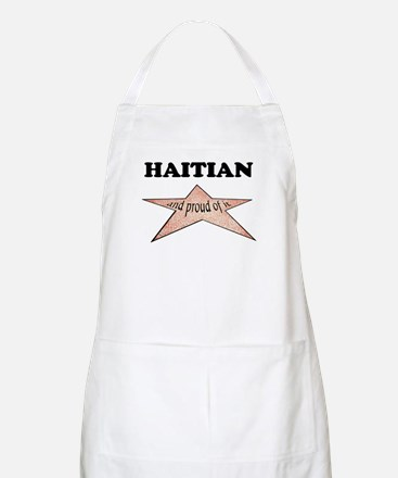 Haitian and proud of it BBQ Apron