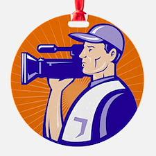 cameraman filmcrew with video movie Ornament