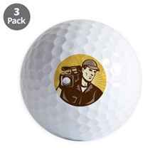 cameraman filmcrew with video movie cam Golf Ball
